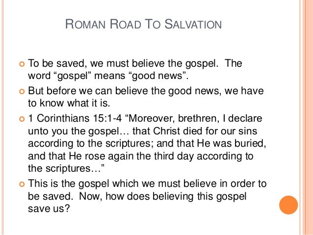 The Roman Road To Salvation