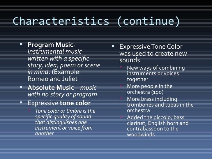 Program music example.