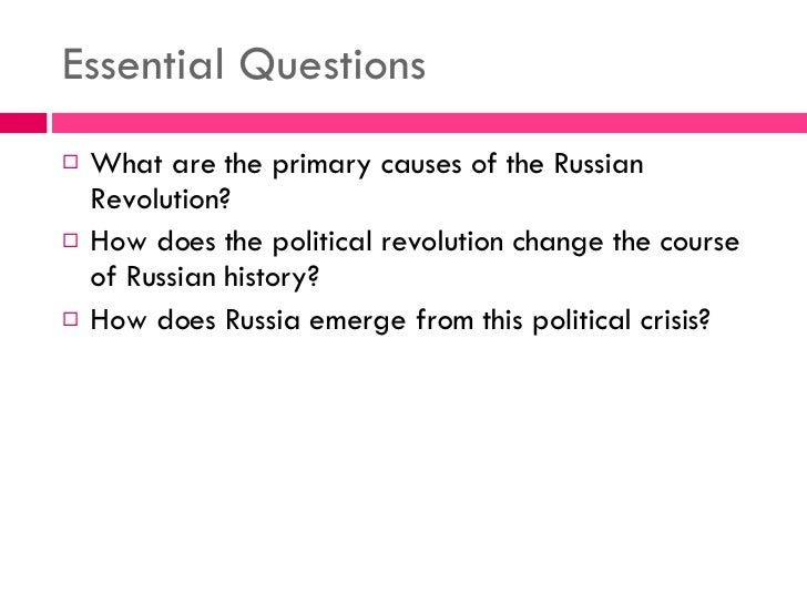 the russian revolution of