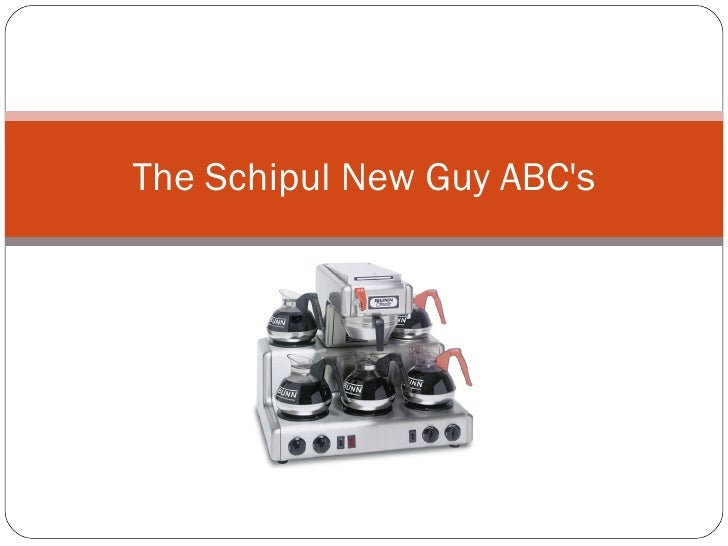 The Schipul New Guy ABC's