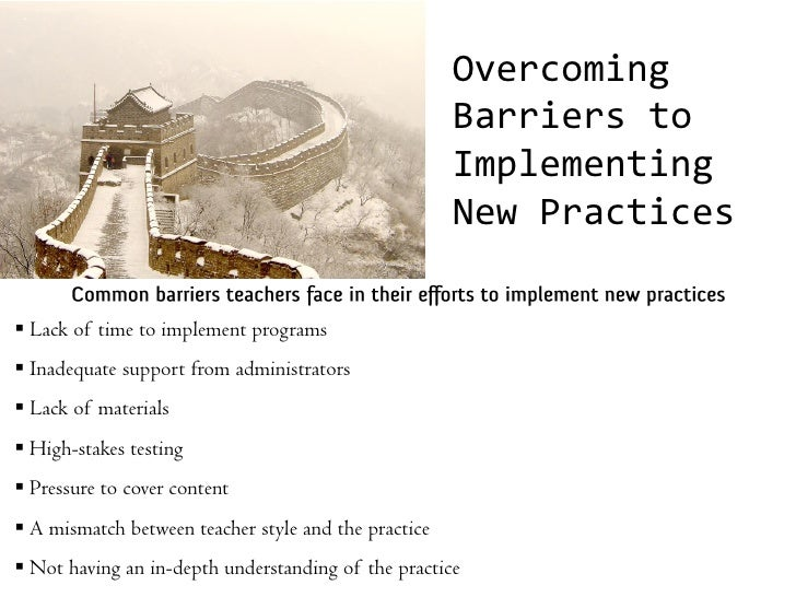 barriers implementing marketing plan and can done overcome Communication: the process, barriers,  in the work of the principal has to be done one on  choice of media can overcome distance barriers between.