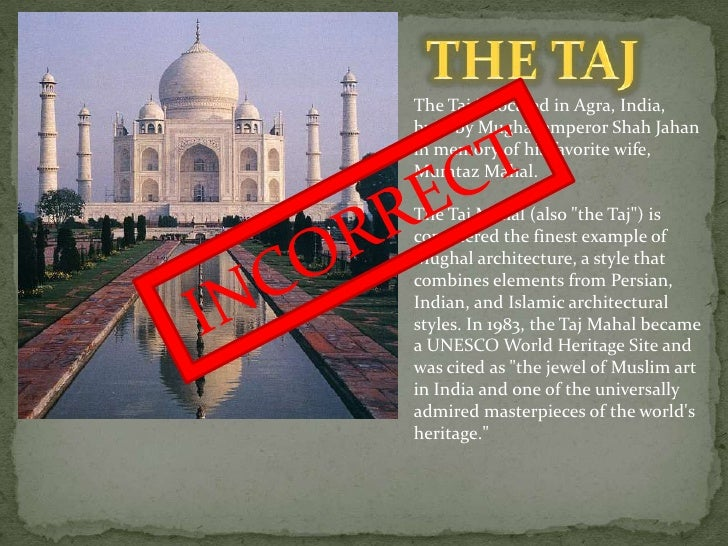 The Secret Of Taj Mahal