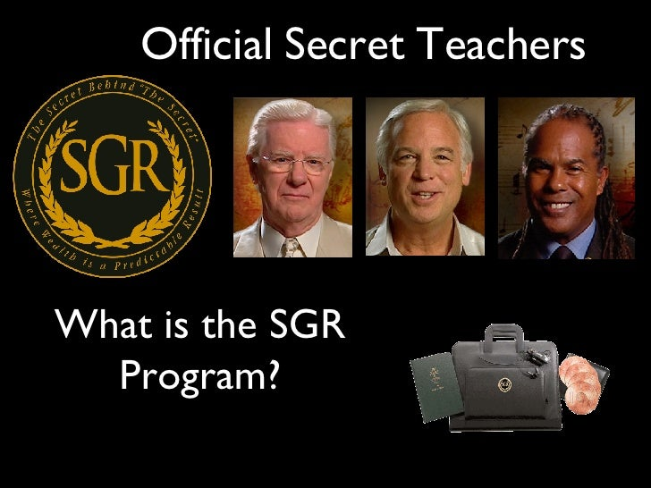 Official Secret Teachers What is the SGR Program?