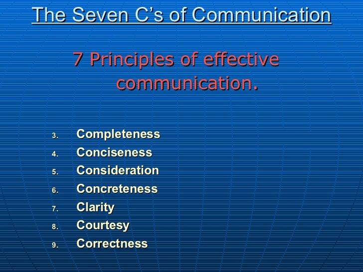 بلوچ 95 The Seven C'S Of Communication
