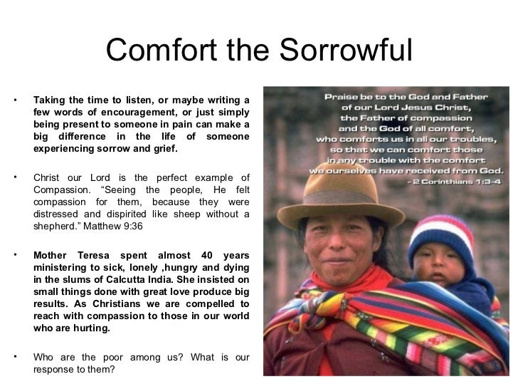 SPIRITUAL WORKS OF MERCY | Fr. Ed Broom, OMV |Spiritual Works Of Mercy Comfort The Sorrowful
