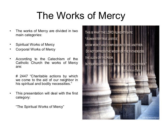 The sevenspiritualworksofmercy – Corporal and Spiritual Works of Mercy Worksheet