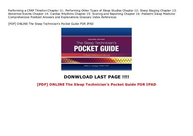 [PDF] ONLINE The Sleep Technician's Pocket Guide FOR IPAD Slide 2