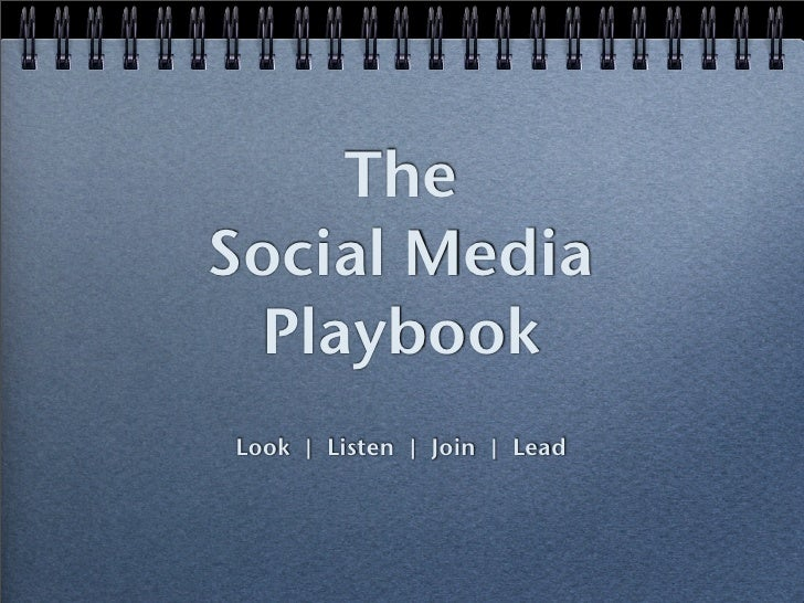 The Social Media  Playbook Look | Listen | Join | Lead