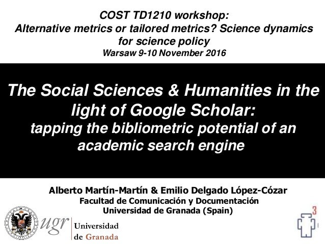 The Social Sciences & Humanities in the light of Google Scholar: tapping the bibliometric potential of an academic search ...