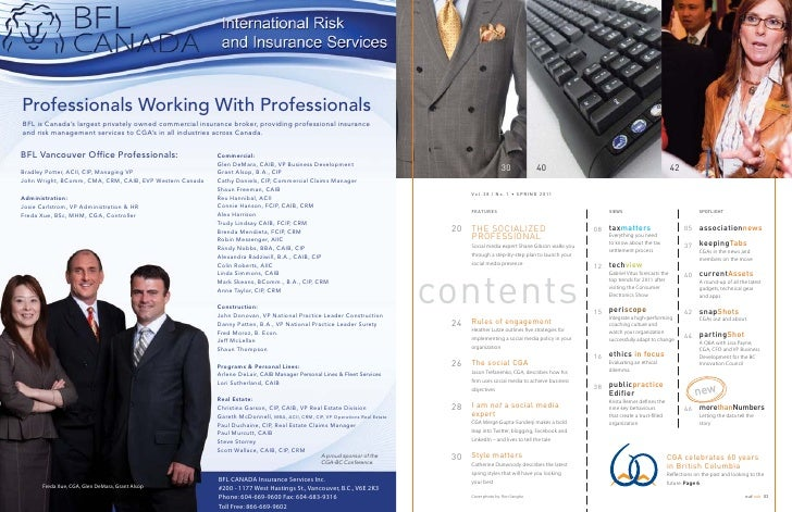 Professionals Working With ProfessionalsBFL is Canada's largest privately owned commercial insurance broker, providing pro...