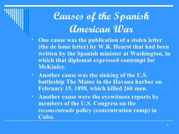 causes of the spanish american war ul li one cause