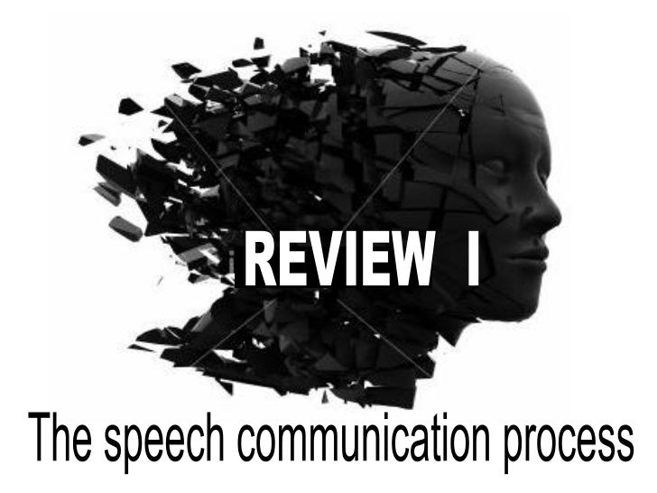 REVIEW  I The speech communication process