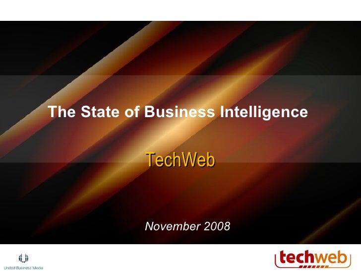 The State of Business Intelligence  TechWeb November 2008