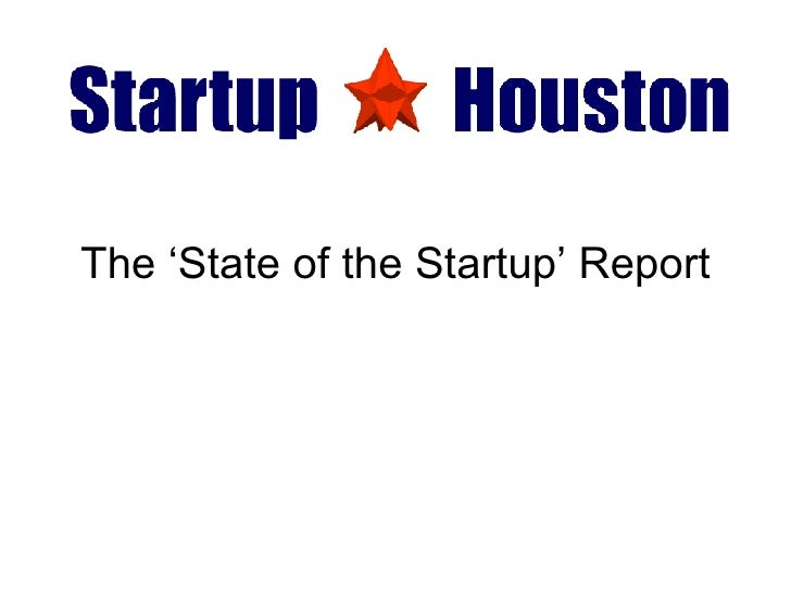 The 'State of the Startup' Report