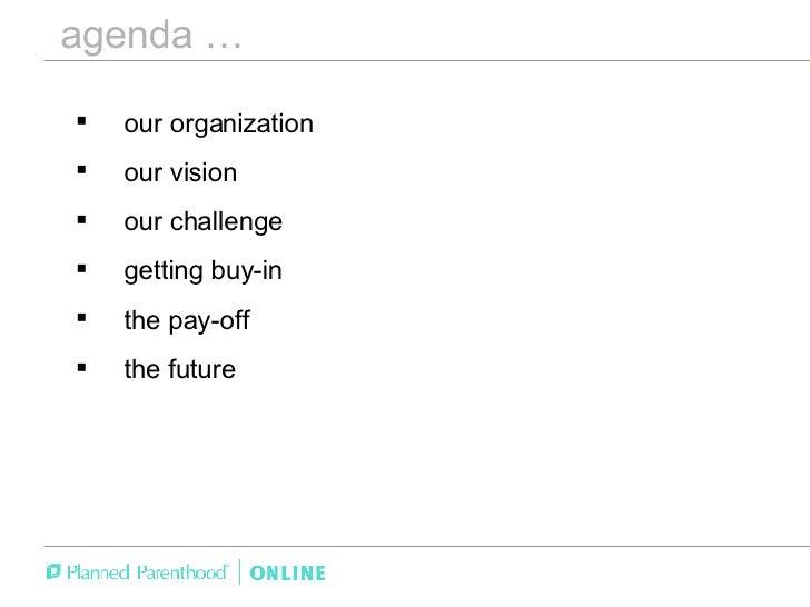 The Strategy Behind Planned Parenthood Online - Jon Platner / Forum One Web Executive Seminar Slide 3