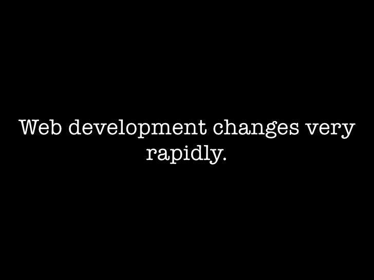 The Struggle For Web Development Standards