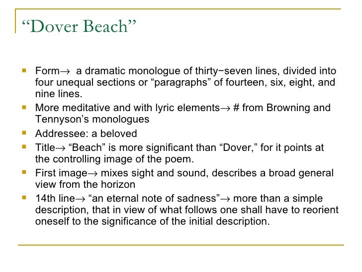 Poem of the week: Dover Beach