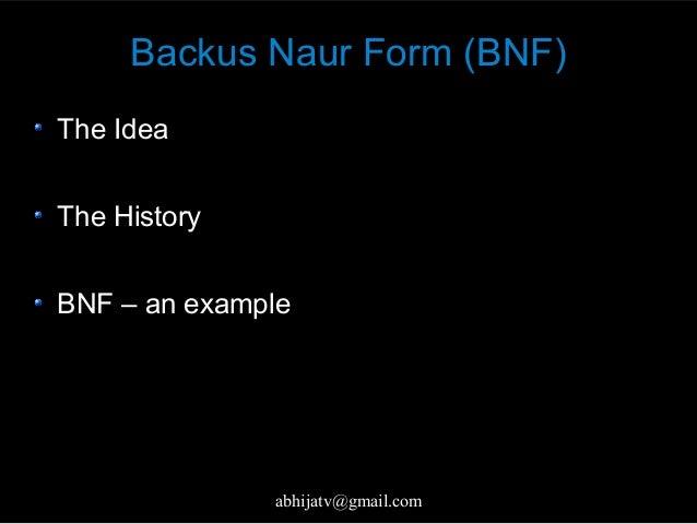 Backus–Naur form