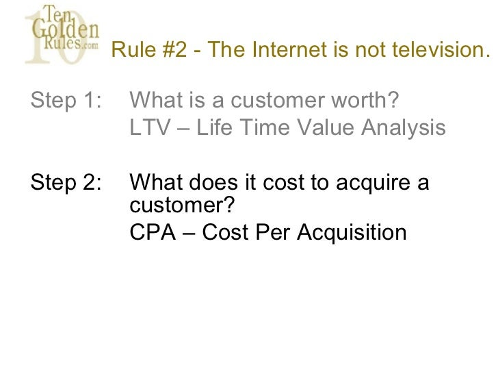 The Ten Golden Rules of Internet Marketing: CRM Edition