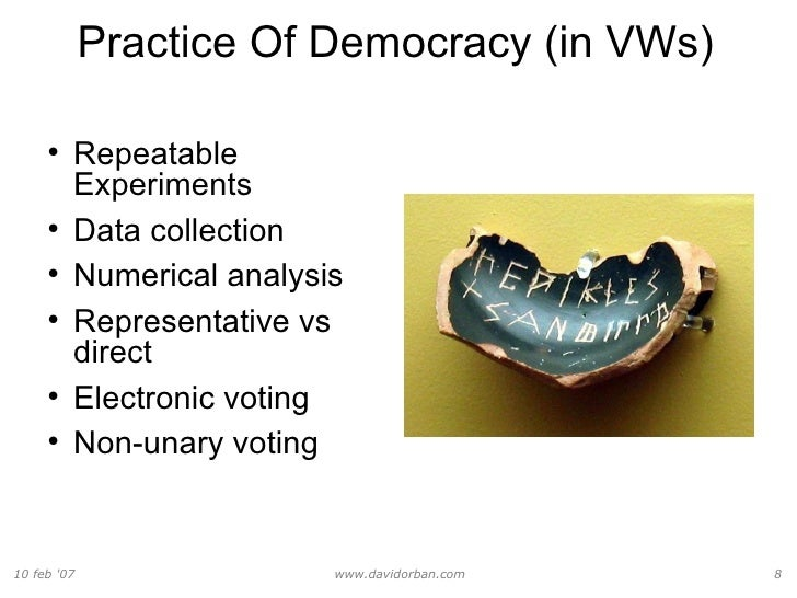 an analysis of the philosophy of democracy This is the first of four chapters on value democracy, and focuses on 'input democracy', which aims to give everyone (or, alternatively, every distinct affected interest) a 'voice', rather than necessarily an equal (understood as 'equally effective') 'say' over the ultimate outcome, and stands in contrast to 'output democracy.