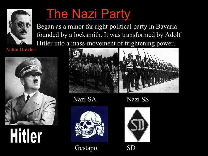 the nazi party 1 when world war i ended, many people in germany were shocked and disappointed that their country had been defeated german soldiers who had fought for their country must have been especially disappointed.