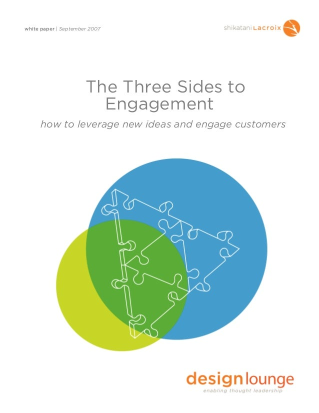 white paper | September 2007The Three Sides toEngagementhow to leverage new ideas and engage customers