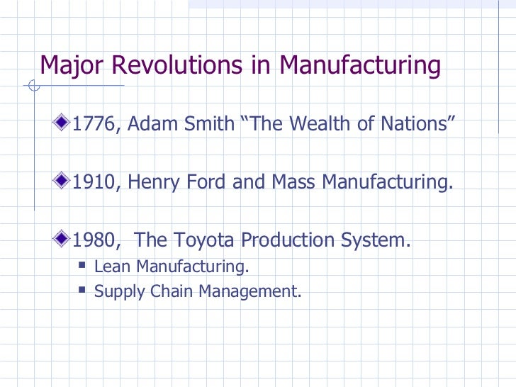 The Toyota Production System - A Transition from Mass Production to Lean Manufacturing and Supply Chain Management Slide 2