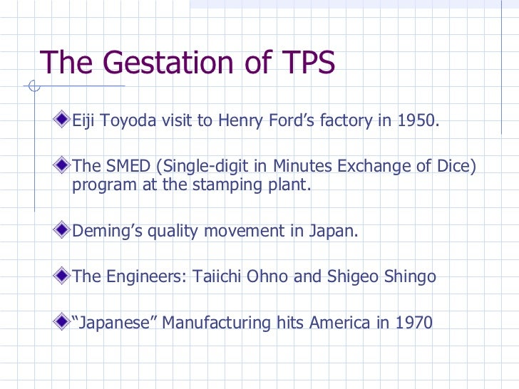 The Toyota Production System - A Transition from Mass Production to Lean Manufacturing and Supply Chain Management Slide 3