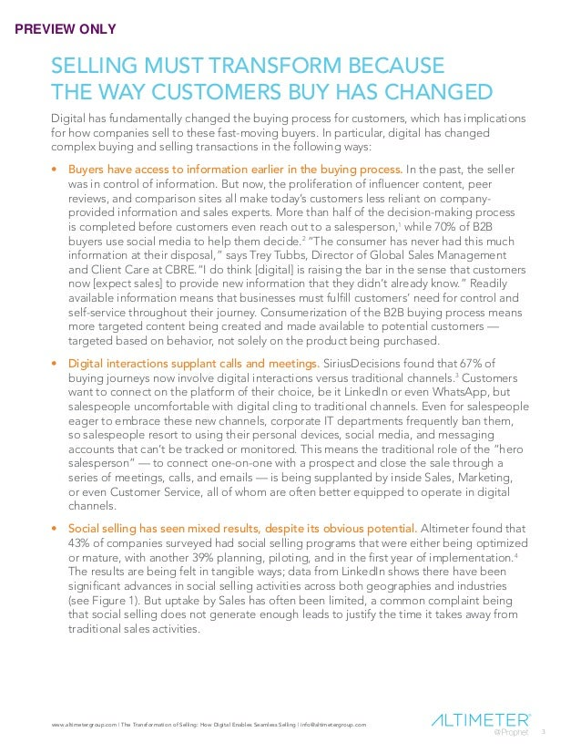 [REPORT PREVIEW] The Transformation of Selling Slide 3