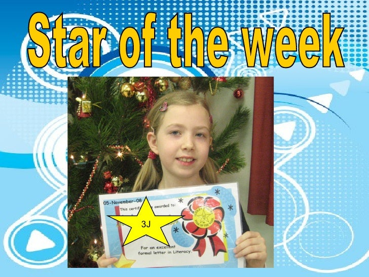 Star of the week 3J