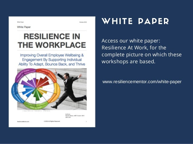 employee resilience research papers Employee empowerment mba research papers write on creating effective organizations for the undergraduate or mba student employee motivation is a key psychological tool for all aspects of.