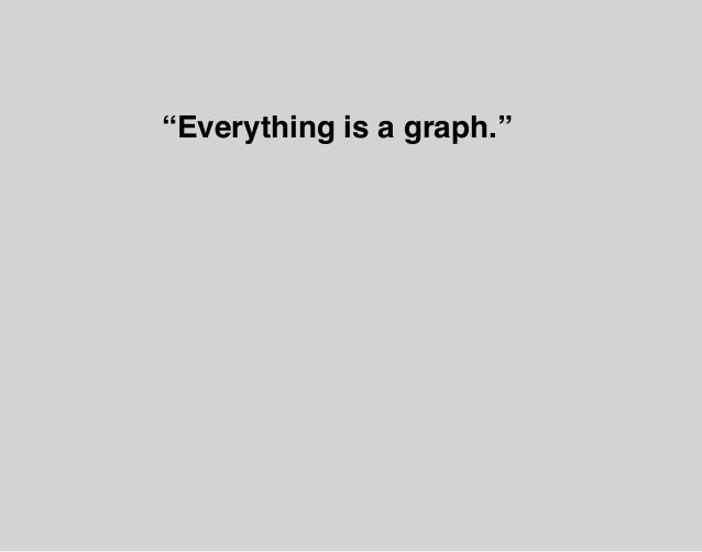 """""""Everything is a graph."""""""