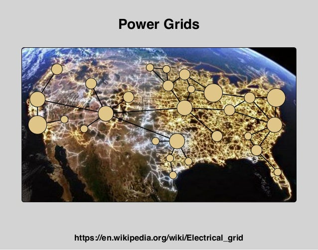 Power Grids https://en.wikipedia.org/wiki/Electrical_grid