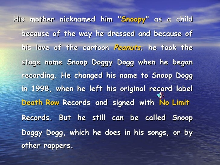 Snoop Dogg Catch Phrases: The Usa 2