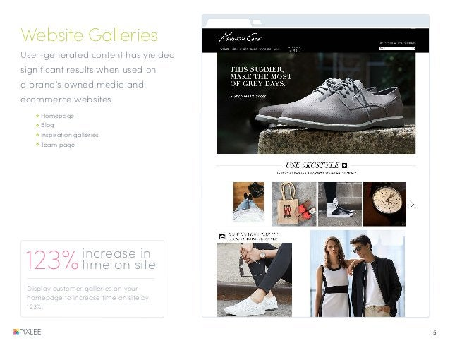 Website Galleries User-generated content has yielded significant results when used on a brand's owned media and ecommerce ...