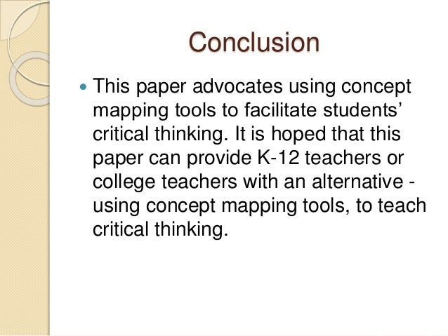 Critical thinking concepts and tools