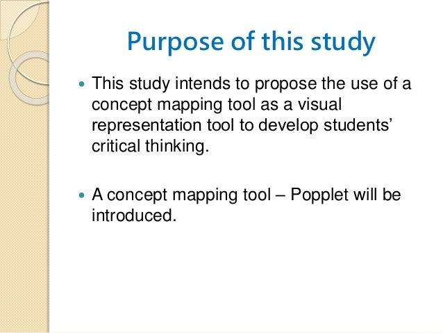 Concept mapping methods to improve critical thinking
