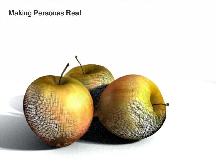 Making Personas Real