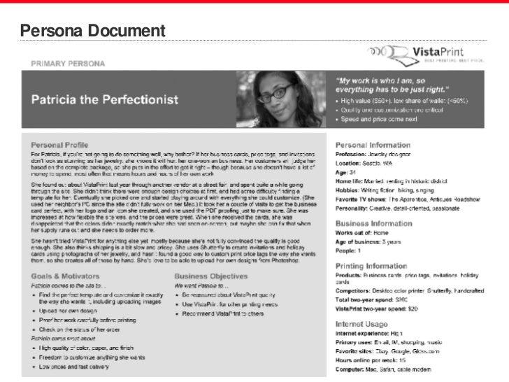 Persona Document