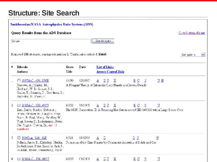 Structure: Site Search