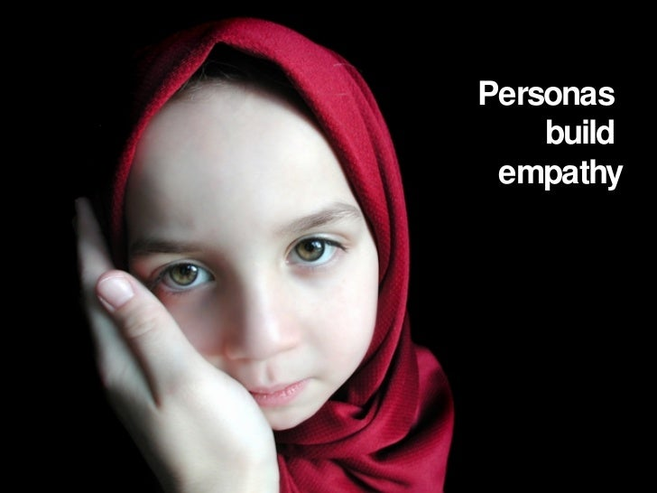 Personas  build  empathy