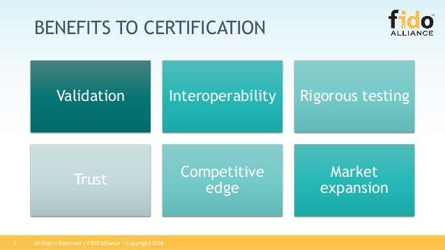 The Value of FIDO Certification Slide 3