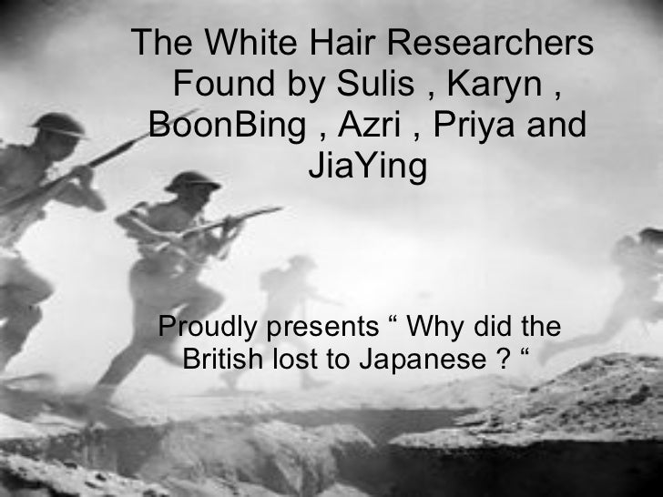 "The White Hair Researchers  Found by Sulis , Karyn , BoonBing , Azri , Priya and JiaYing Proudly presents "" Why did the Br..."