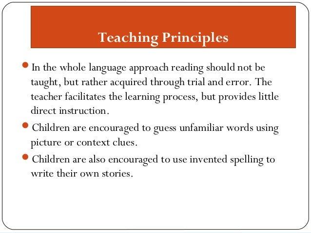 Phonics vs whole language research paper