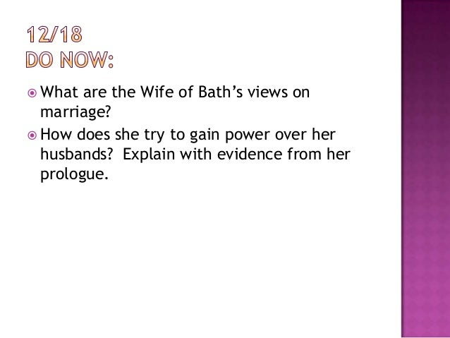 desire bath wife Character analysis the wife of bath believes that experience is the greatest authority she believes in giving men what they desire.