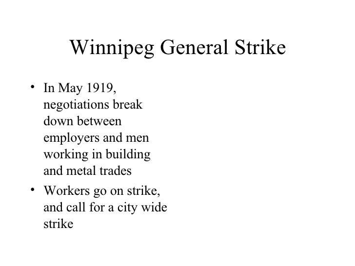 Winnipeg general strike essay thesis writing