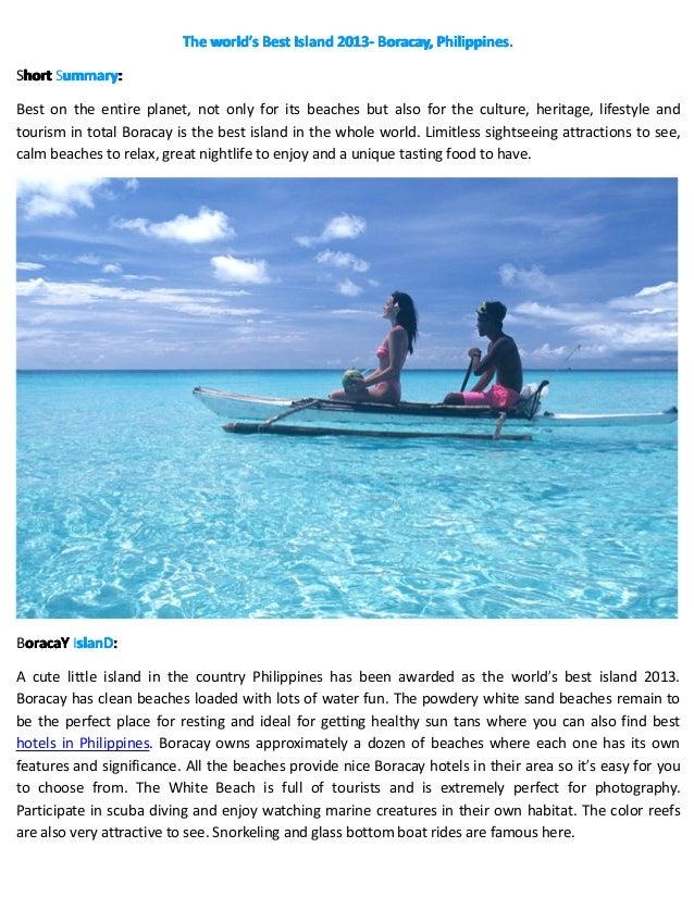 The world's Best Island 2013- Boracay, Philippines.                              world'              2013-Short Summary: h...