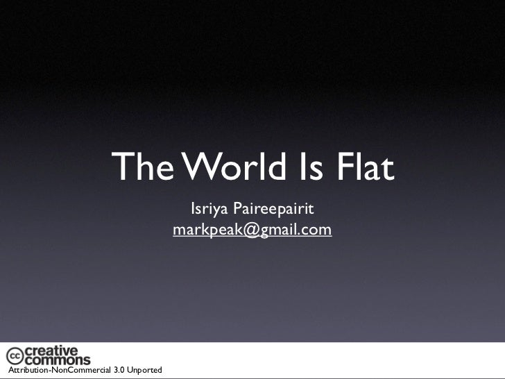 The World Is Flat                                            Isriya Paireepairit                                          ...