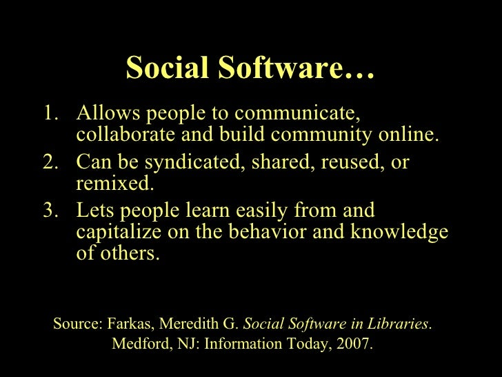 The World Of Social Software