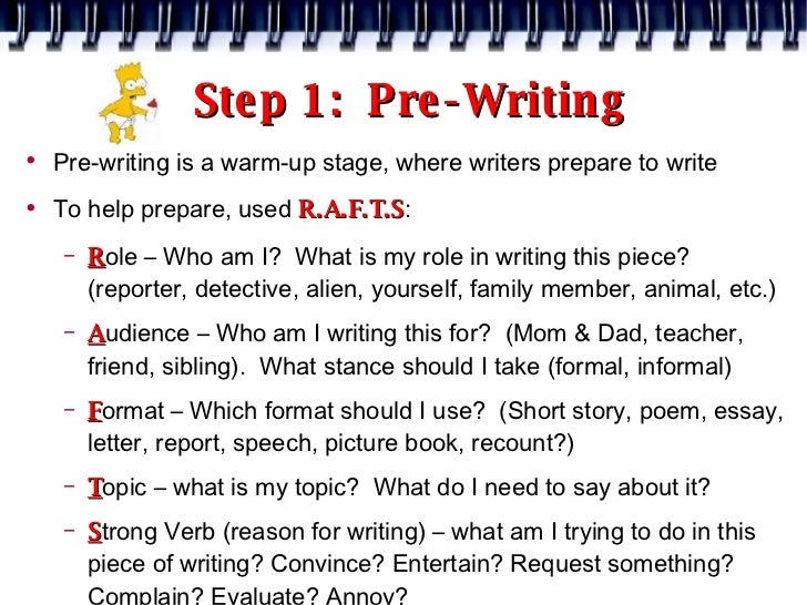 review the steps in the prewriting phase of essay writing There are four main stages in the writing process: prewriting planning  after you  have run out of your ideas, reread your paper and circle the main  once you  have done your outline, review and make some modification if it is necessary.